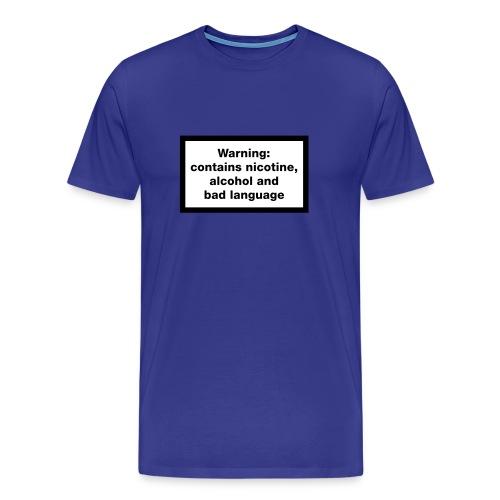 warning contains - Men's Premium T-Shirt