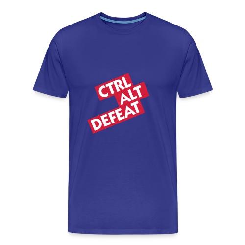 Mens Ctrl Alt Defeat Tshirt - Men's Premium T-Shirt