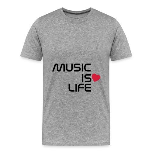 T-Shirt Music is Life - T-shirt Premium Homme