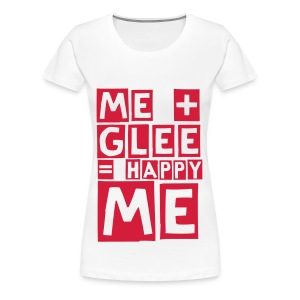 happy glee (F) - Women's Premium T-Shirt