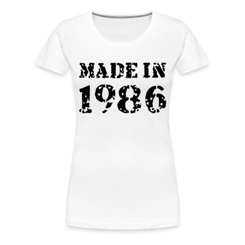 made in 1986 - Premium T-skjorte for kvinner