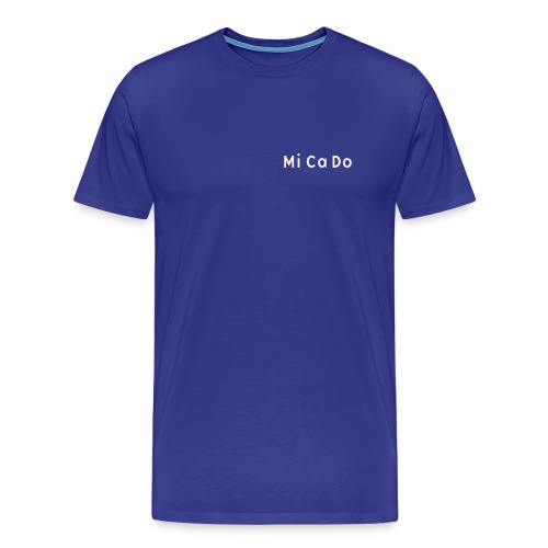T-Shirt (m.) blau, Schrift weiß - Männer Premium T-Shirt