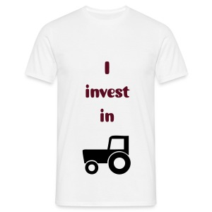 I invest in tractors! - Men's T-Shirt
