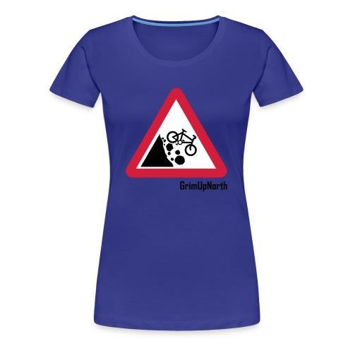 Falling Mountain Bikers - Women's Premium T-Shirt