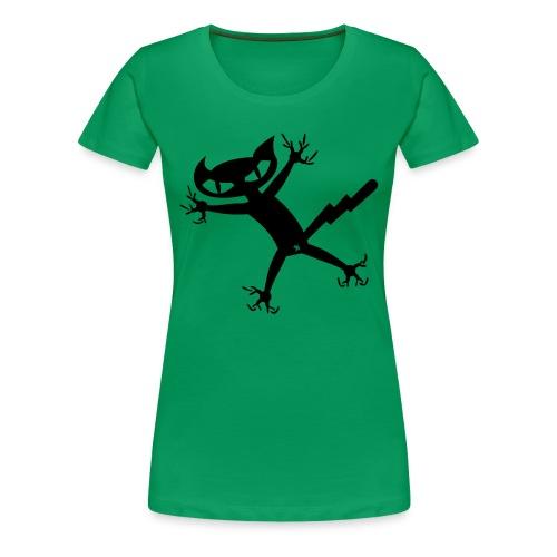 Bad Cat - grasgrün girlieshirt - Frauen Premium T-Shirt