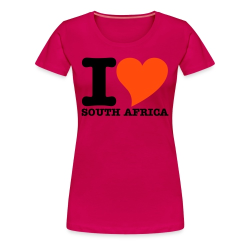 I LOVE SOUTH AFRICA WC - Women's Premium T-Shirt