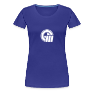T-Shirts ~ Women's Premium T-Shirt ~ Womens Small Logo Front & Domain on Back