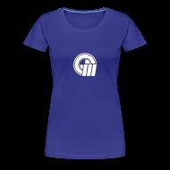 T-Shirts ~ Women's Premium T-Shirt ~ Womens Small Logo Front & Domain on Back