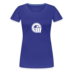 Womens Small Logo Front & Domain on Back - Women's Premium T-Shirt