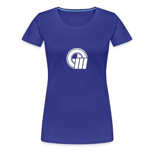 Womens Small Logo Front & Domain on Back - Women's Premium T-Shirt