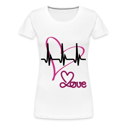 LOV - BLANC ROSE - T-shirt Premium Femme