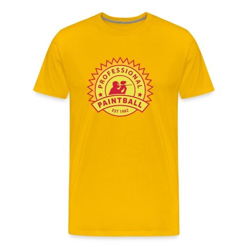 Gelb prof_paintball_2 T-Shirts - Männer Premium T-Shirt