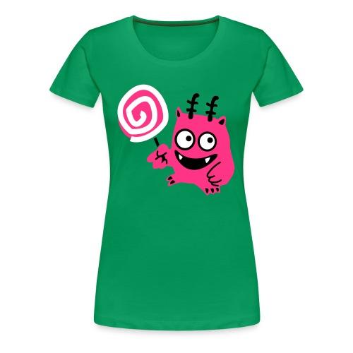 Women's Lollipop Monster T-Shirt - Women's Premium T-Shirt