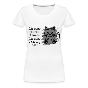 Mens/Unisex 'The More People I Meet...' T-Shirt - Women's Premium T-Shirt