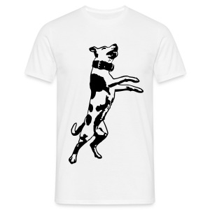 Mens/Unisex Jumping Staffy T-Shirt - Men's T-Shirt