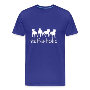 Mens/Unisex 'Staff-a-holic' T-Shirt - Men's Premium T-Shirt