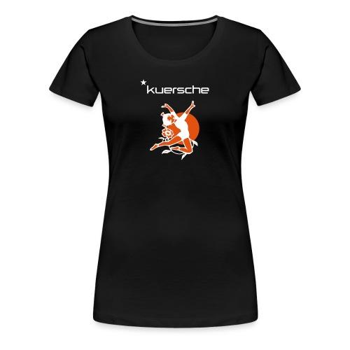 Kuersche mit Tänzerin - Frauen Premium T-Shirt