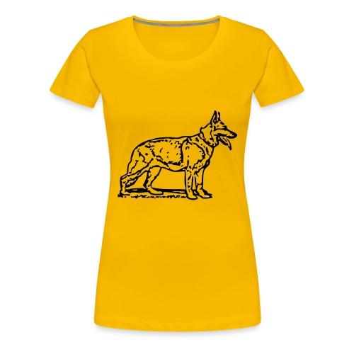 Womens German Shepherd T-Shirt - Women's Premium T-Shirt