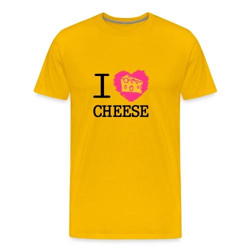 I love cheese - Men's Premium T-Shirt