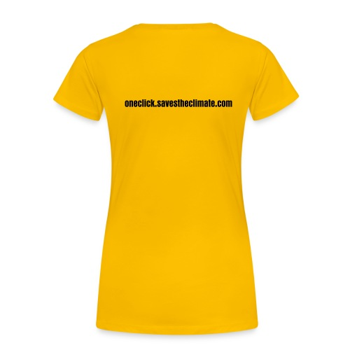 OneClick back(female) - Women's Premium T-Shirt