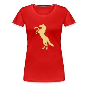 paarden tieshirt - Vrouwen Premium T-shirt