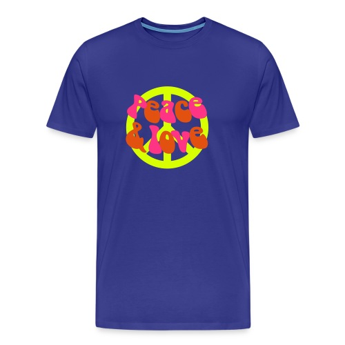 Peace and Love - Premium T-skjorte for menn