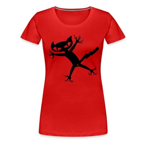 Bad Cat - rot girlieshirt - Frauen Premium T-Shirt