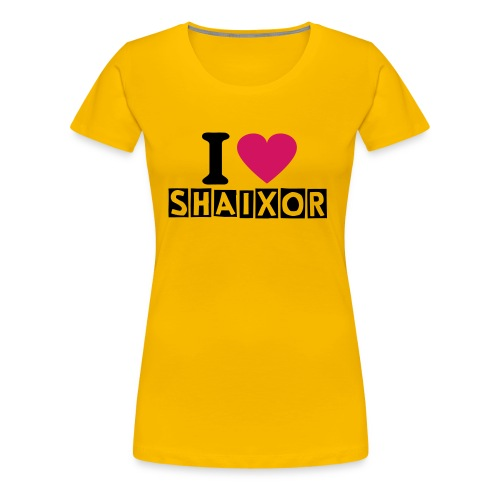 I love shaixor Shirt - WOMEN - Frauen Premium T-Shirt