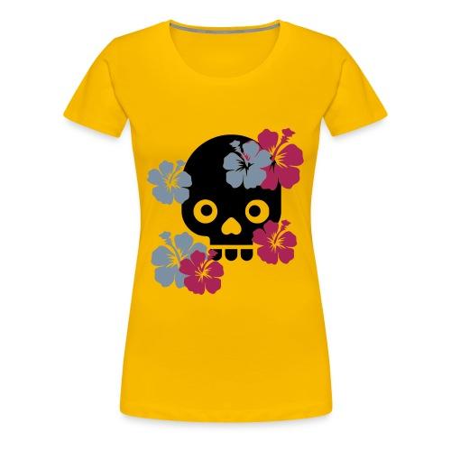 SKULL - T-shirt Premium Femme