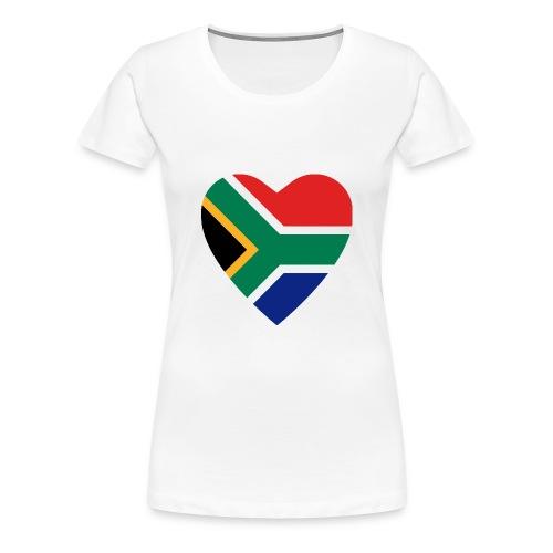love south africa white - Women's Premium T-Shirt