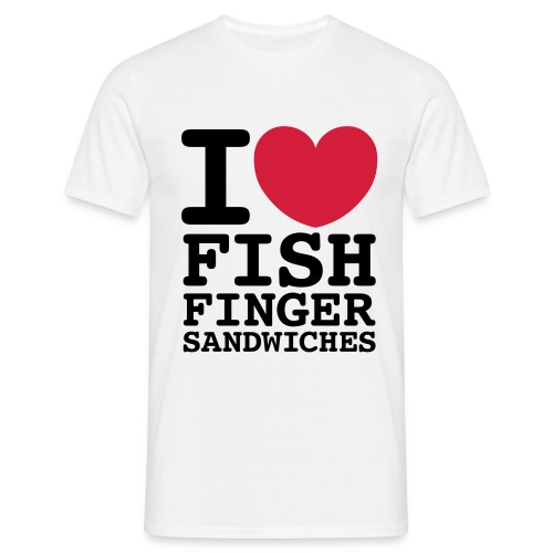 I Love Fish Finger Sandwiches T Shirt - Men's T-Shirt