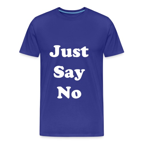 just say no diva blue - Men's Premium T-Shirt