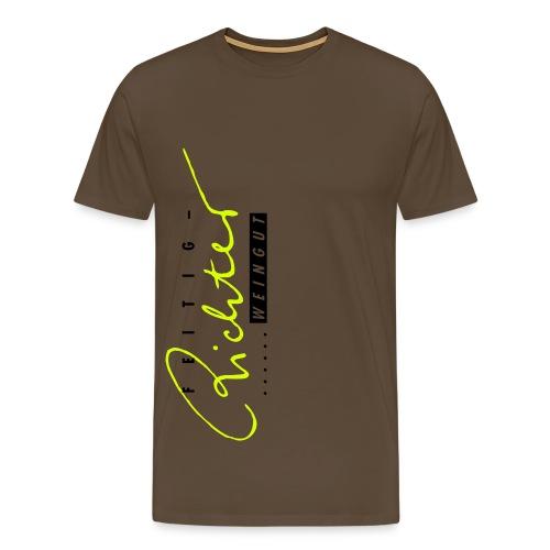 Shirt braun/gelb - Männer Premium T-Shirt