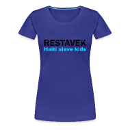 T-Shirts ~ Frauen Premium T-Shirt ~ T-Shirt Frau Restavek 03 blau© by kally ART®