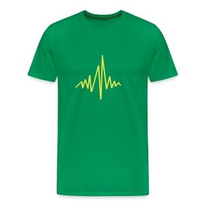 Hartslag pieken - Mannen Premium T-shirt