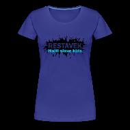 T-Shirts ~ Frauen Premium T-Shirt ~ Frau T-Shirt Restavek Splash 03blau © by kally ART®