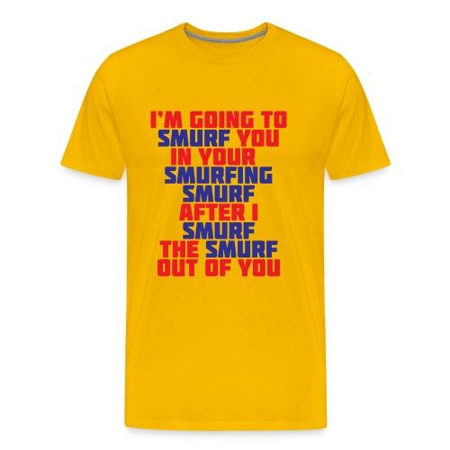 T-shirt Smurfing! - Mannen Premium T-shirt