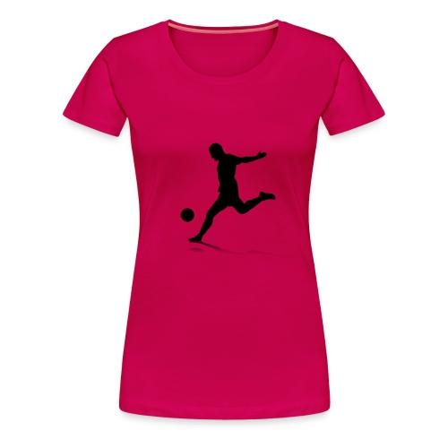 Stürmer beim Schuss - Frauen Premium T-Shirt