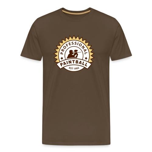 Braun prof_paintball_2 T-Shirts - Männer Premium T-Shirt