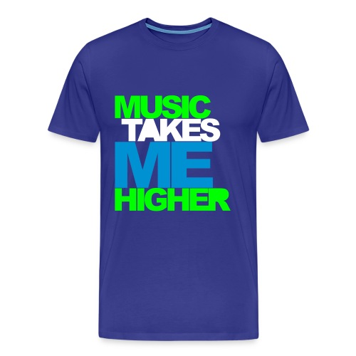Music Takes Me Higher - Herre premium T-shirt