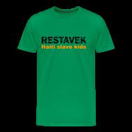 T-Shirts ~ Männer Premium T-Shirt ~ T-Shirt Mann Restavek 03 orange© by kally ART®