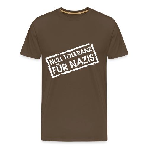NULL TOLERANZ braun - Männer Premium T-Shirt