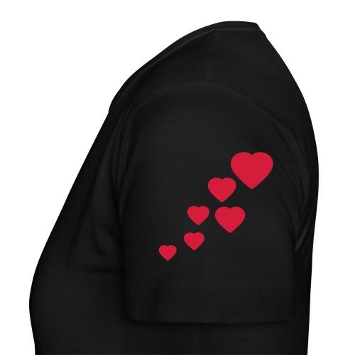 camiseta corazones funny (mujer) - Camiseta mujer