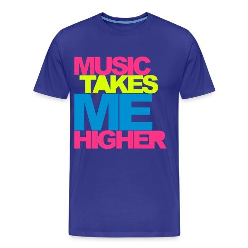 music takes me higher - Men's Premium T-Shirt