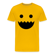 T-Shirts ~ Men's Premium T-Shirt ~ Polycount GREENTOOTH'd - Yellow