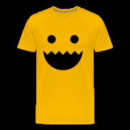 T-Shirts ~ Men's Premium T-Shirt ~ Polycount GREENTOOTH'd - Yellow