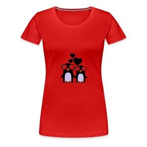 pingu heart - Maglietta Premium da donna