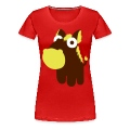 Red Horse in the cartoon style  Women's T-Shirts