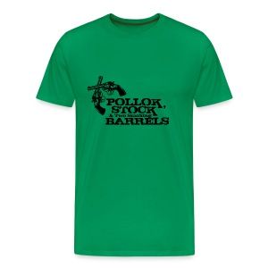 Pollok, Stock & Two Smoking Barrells - Men's Premium T-Shirt