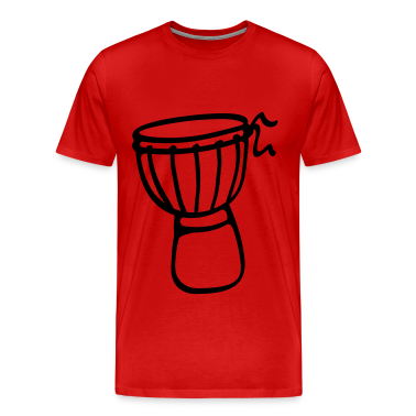 Red Djembe Drum Men's T-Shirts
